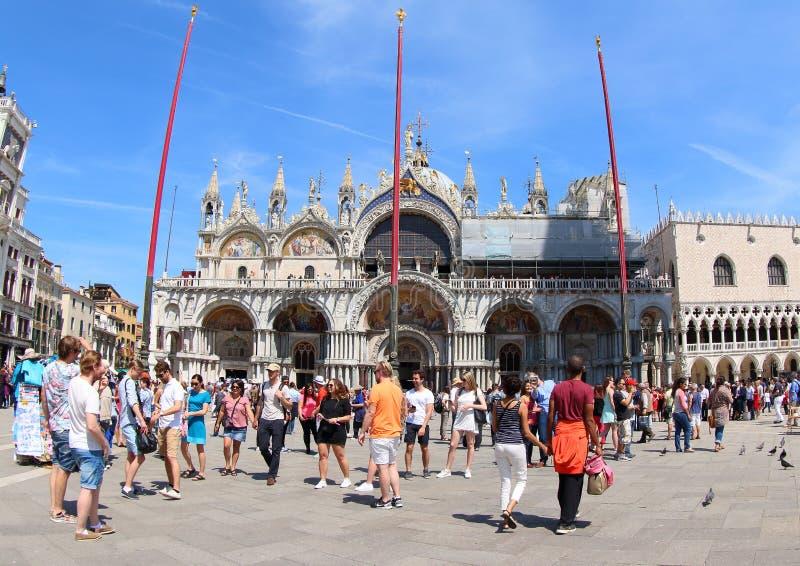Basílica del ` s de St Mark, Venecia imágenes de archivo libres de regalías