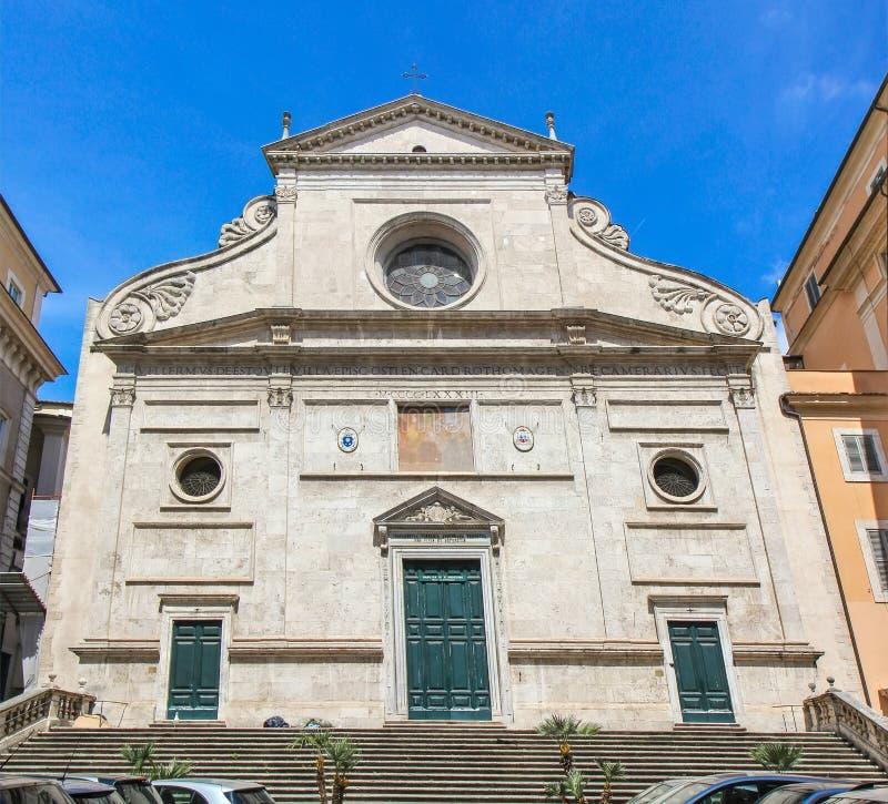 Basílica del santo Agustín, Roma, Italia foto de archivo libre de regalías
