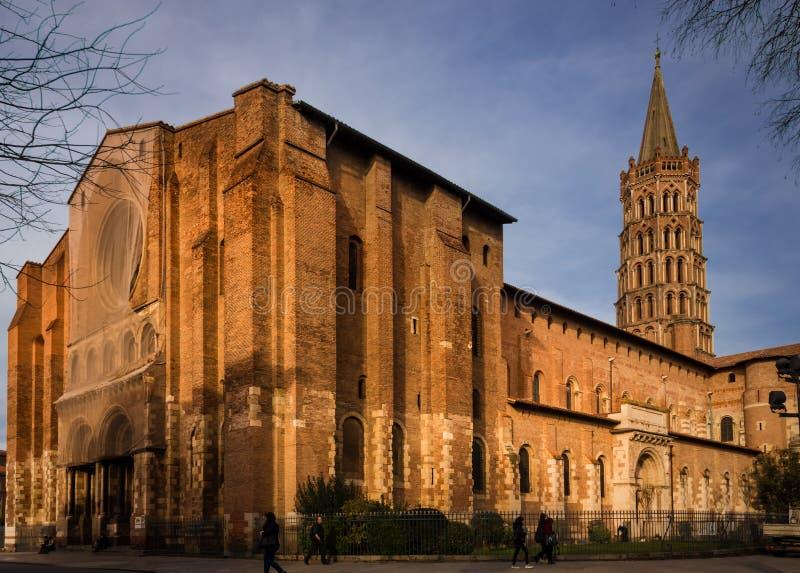 Basílica del santo Sernin, Toulouse, Francia imagen de archivo libre de regalías