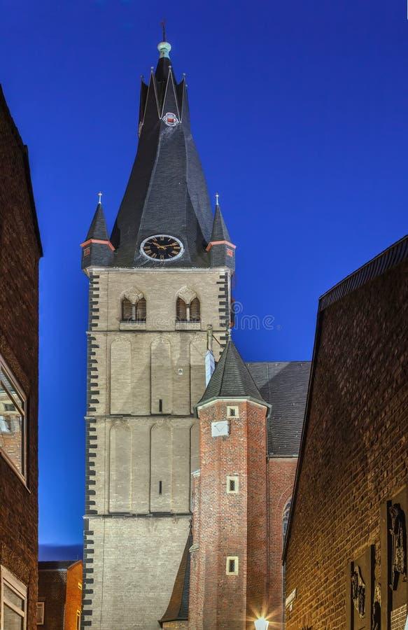 Basílica del St Lamberto, Düsseldorf, Alemania foto de archivo