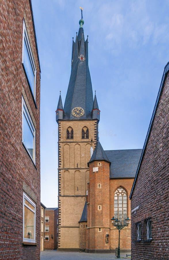 Basílica del St Lamberto, Düsseldorf, Alemania fotografía de archivo libre de regalías