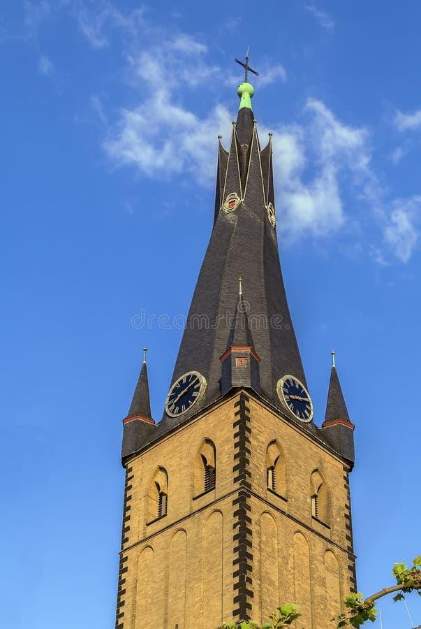 Basílica del St Lamberto, Düsseldorf, Alemania imagen de archivo libre de regalías