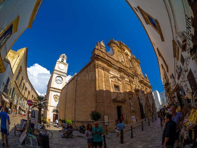 Basílica di Sant Agata de Gallipoli, Itália imagens de stock royalty free
