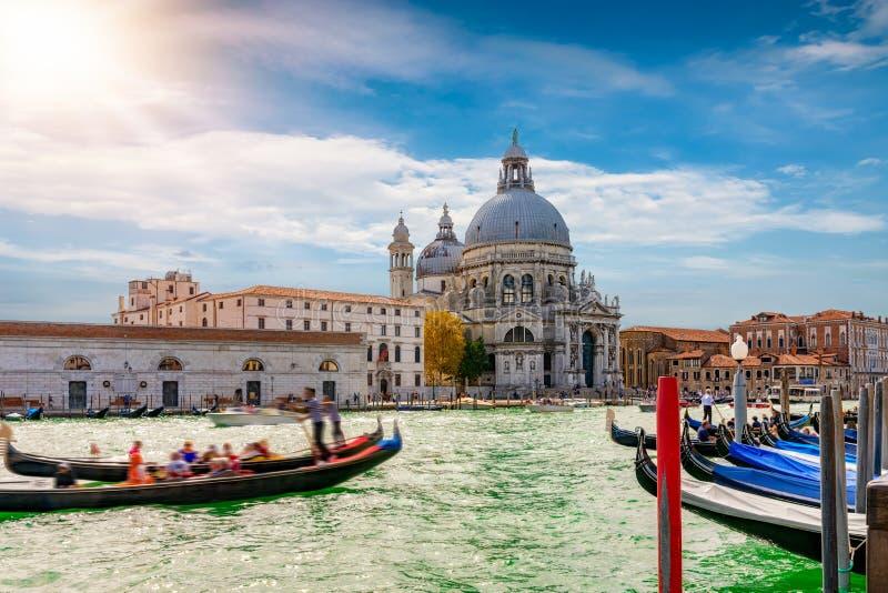 A basílica di Santa Maria della Salute em Veneza foto de stock