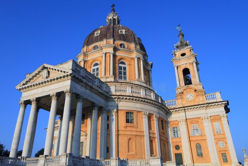 Basílica di Superga em Turin fotos de stock royalty free