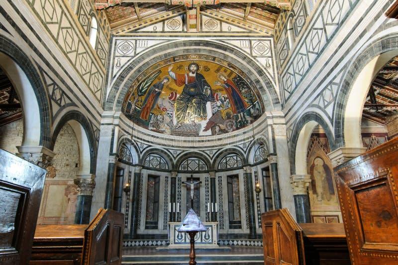 Basílica do al Monte de San Miniato imagens de stock