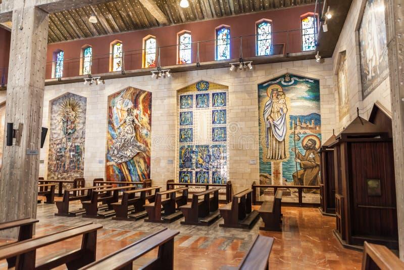A basílica do aviso em Nazareth fotos de stock royalty free