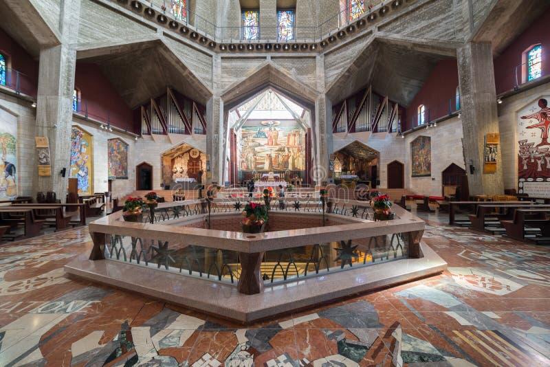 Basílica do aviso em Nazareth foto de stock