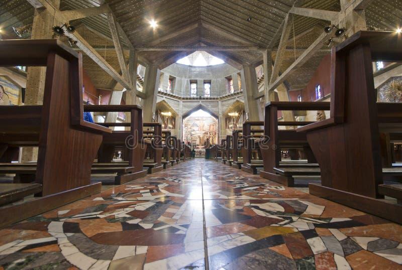 Basílica do aviso em Nazareth, Israel fotografia de stock royalty free