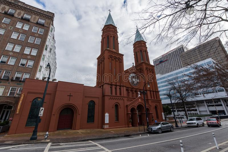 Basílica do coração sagrado de Jesus, igreja em Atlanta, Georgi fotos de stock royalty free