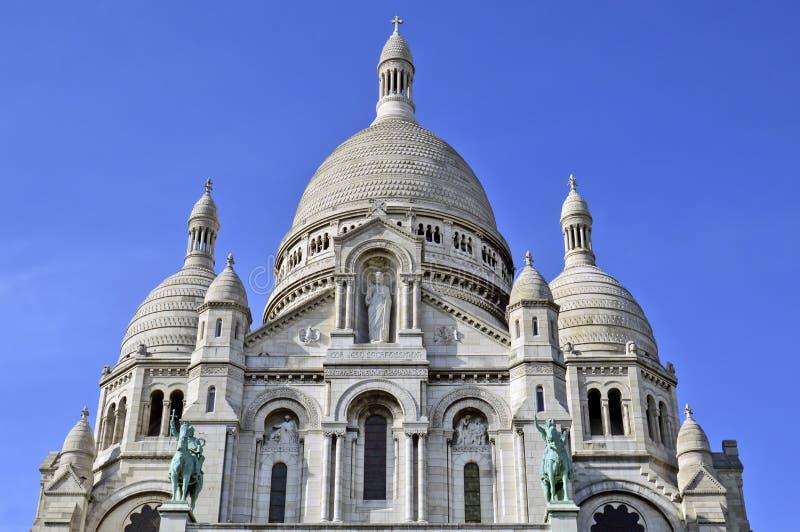 A basílica do coração sagrado de Paris imagem de stock royalty free