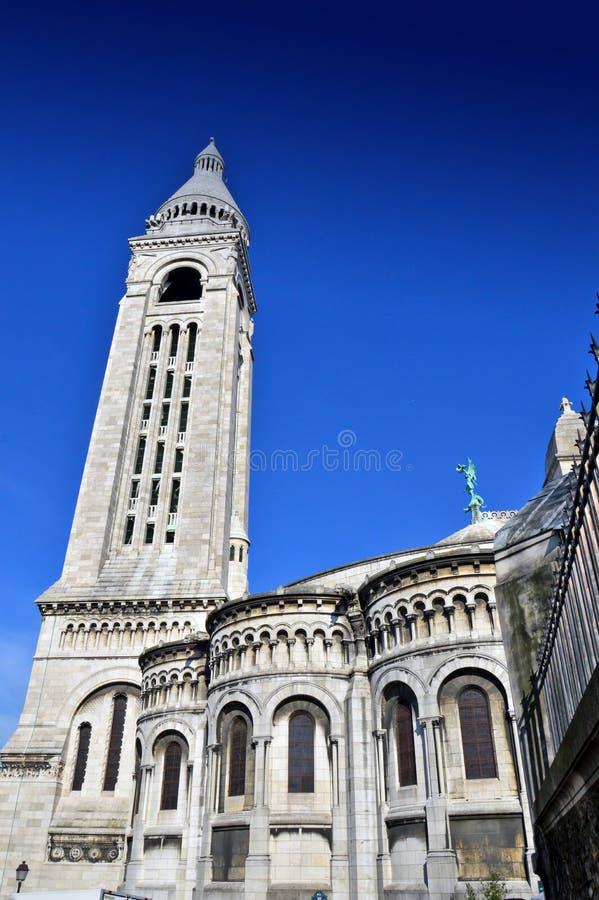 A basílica do coração sagrado de Paris fotos de stock