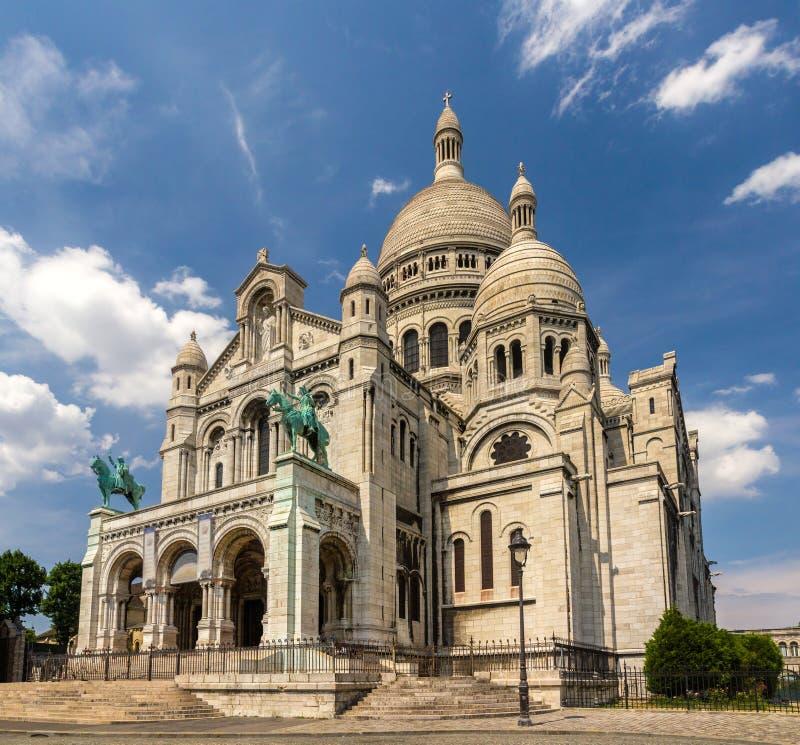 A basílica do coração sagrado de Paris - França imagem de stock