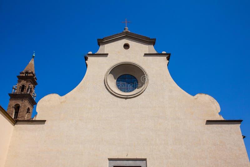 A basílica do Espírito Santo construiu 1487 em Florença fotos de stock