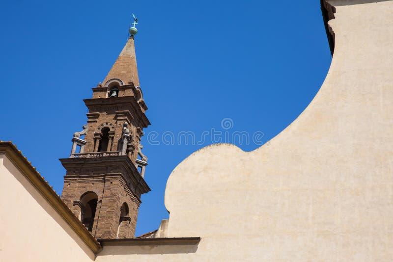 A basílica do Espírito Santo construiu 1487 em Florença fotografia de stock
