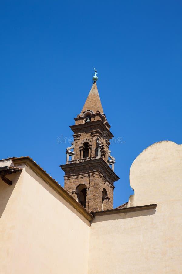 A basílica do Espírito Santo construiu 1487 em Florença foto de stock