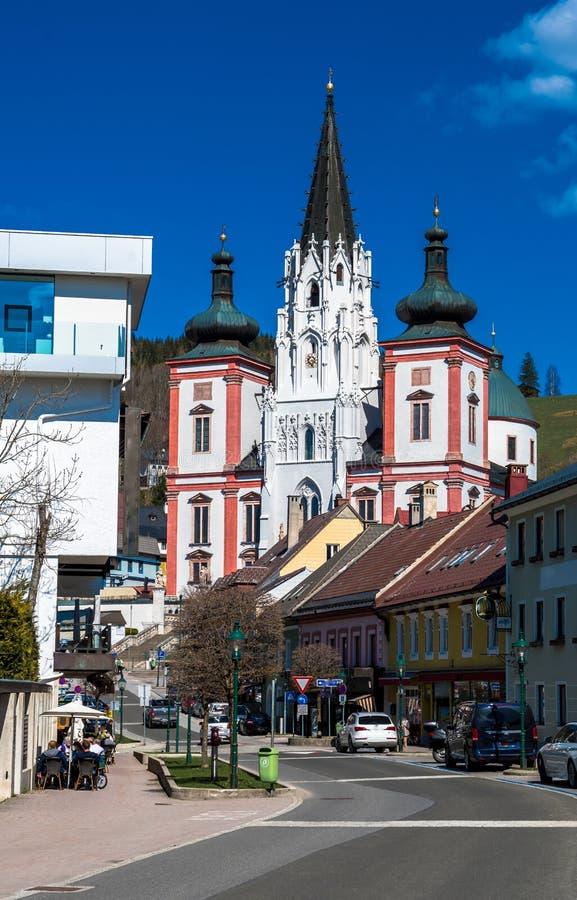 Basílica do local da peregrinação de Mariazell em Áustria fotos de stock royalty free