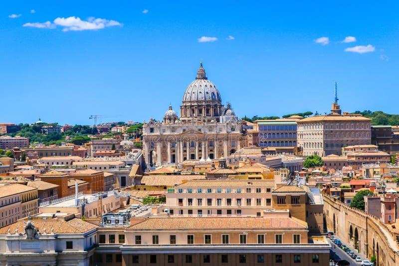 Basílica do ` s de St Peter do Vaticano do Vatican City State, Itália fotos de stock