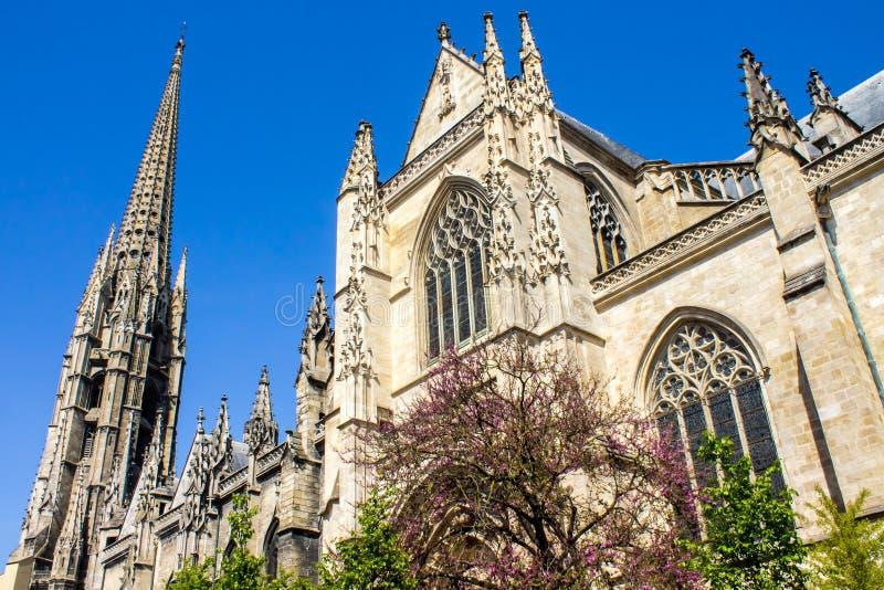 A basílica do Saint-Michel no Bordéus, França fotos de stock