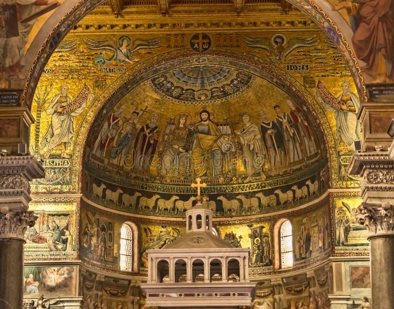 Basílica do St Maria em Trastevere foto de stock