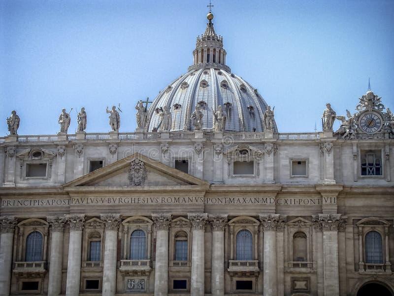 Basílica do St Peter em Vatican imagem de stock