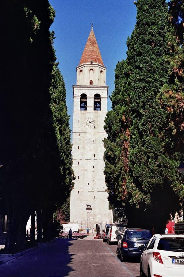 Basílica em Aquileia, Itália fotografia de stock