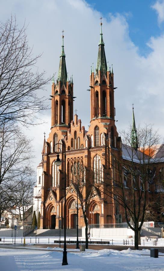 Basílica em Bialystok. fotos de stock royalty free