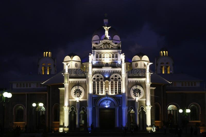 Basílica em Cartago, Costa-Rica fotografia de stock