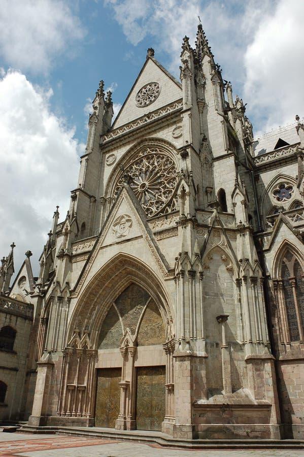Basílica em Quito, Equador. fotografia de stock