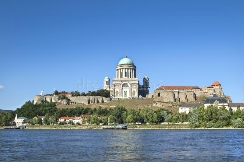 Basílica en Esztergom, Hungría imagen de archivo libre de regalías