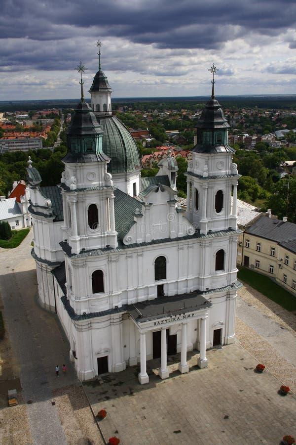 Basílica en Polonia foto de archivo