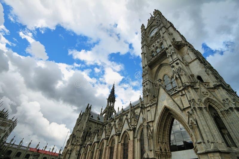 Basílica en Quito, Ecuador imagen de archivo libre de regalías