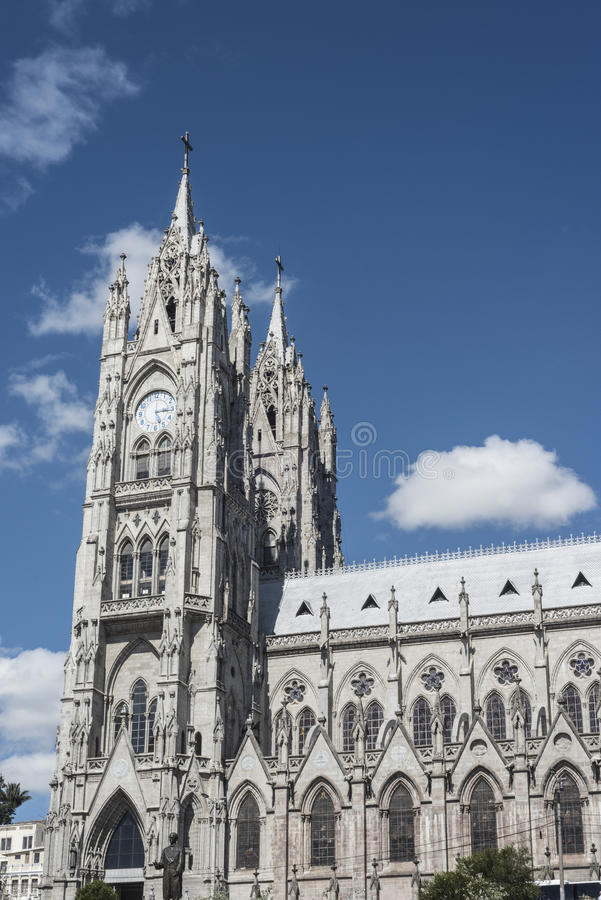 Basílica en Quito, Ecuador imágenes de archivo libres de regalías