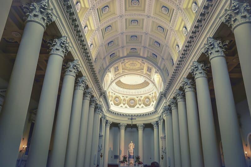 Basílica en San Marino-interior fotografía de archivo