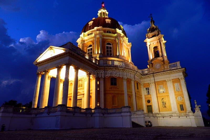 Basílica espetacular de Superga imagens de stock royalty free