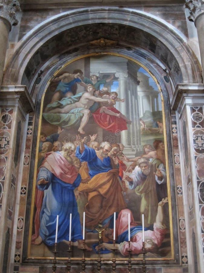 Basílica famosa en el Vaticano en Roma foto de archivo libre de regalías