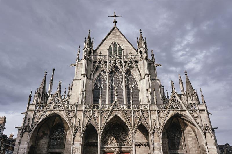 Basílica gótico de Saint-Urbain imagem de stock royalty free