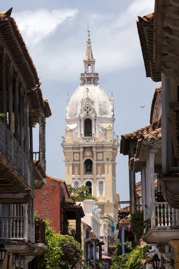 Basílica metropolitana de la catedral del santo Catherine de Alexandría en Cartagena de Indias imagen de archivo