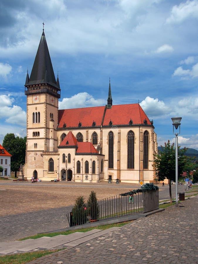 Basílica na cidade de Bardejov, UNESCO, Eslováquia imagem de stock royalty free
