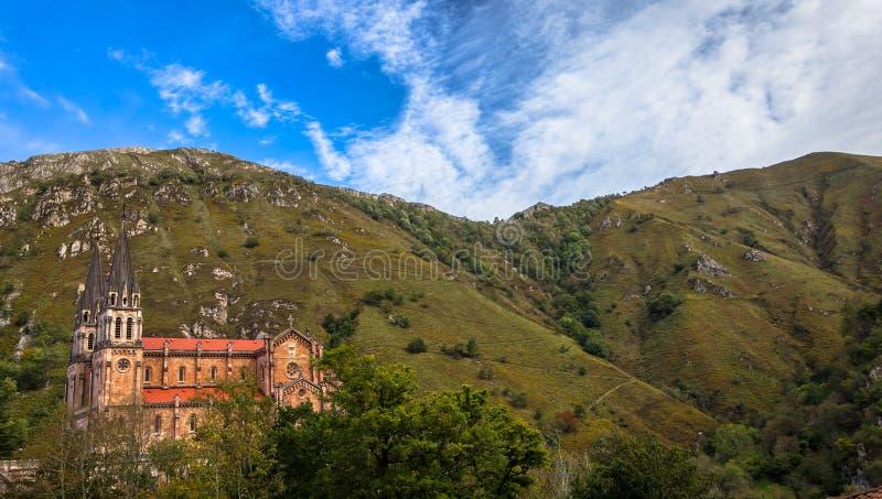 Basílica nas montanhas fotografia de stock