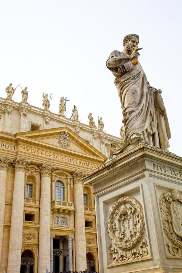 A basílica no Vaticano, Roma de St Peter, Itália foto de stock
