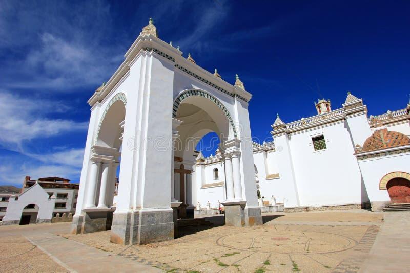 Basílica nossa senhora de Copacabana, Bolívia imagens de stock