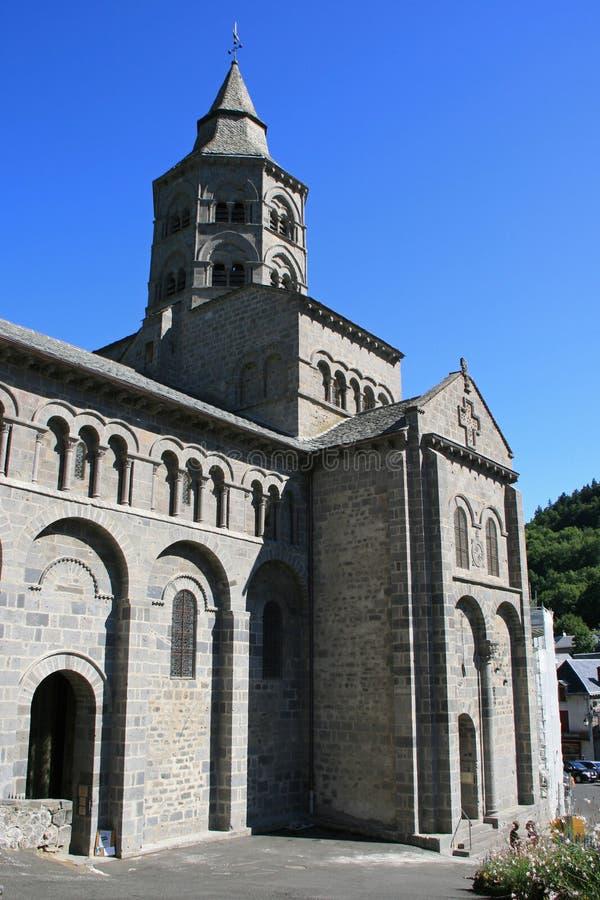 Basílica Notre-Dame - Orcival - França fotografia de stock