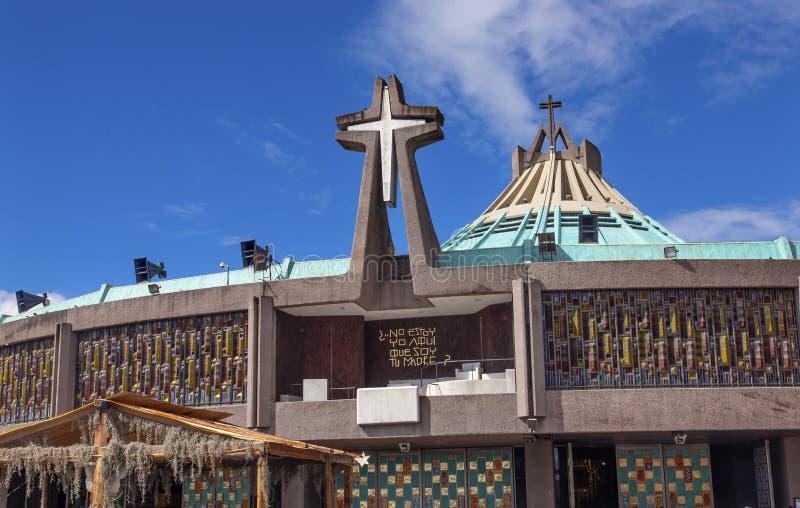 Basílica nova Guadalupe Shrine Mexico City Mexico fotos de stock royalty free