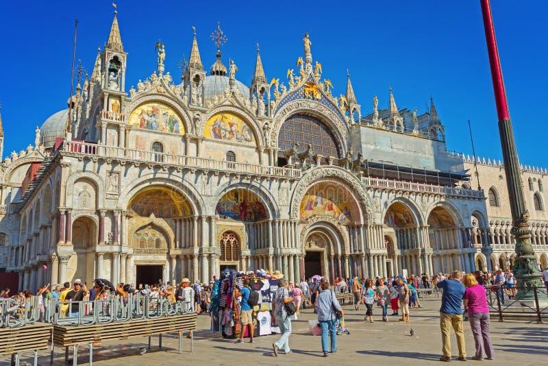 Basílica patriarcal de la catedral de San Marcos imagen de archivo