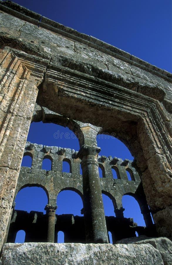 Download BASÍLICA QALB LOZEH DE ORIENTE MEDIO SIRIA ALEPO Imagen editorial - Imagen de basilica, east: 64208095