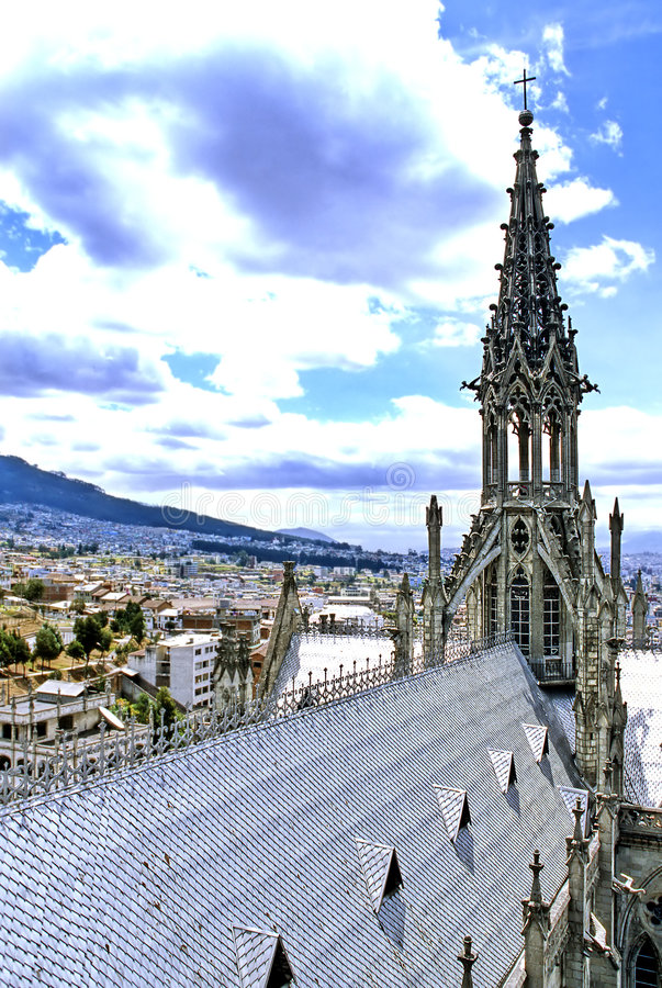 Download Basílica Quito, Equador foto de stock. Imagem de torre - 531348
