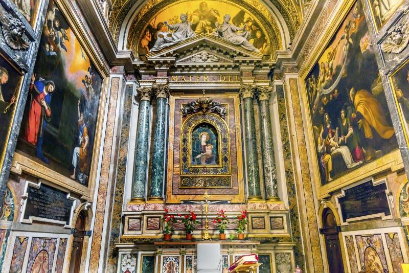 Basílica Roma Itália da igreja de Mary Shrine Santa Maria Della Pace fotografia de stock royalty free