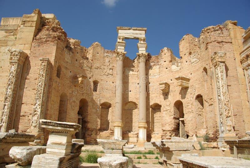 Basílica romana, Líbia foto de stock