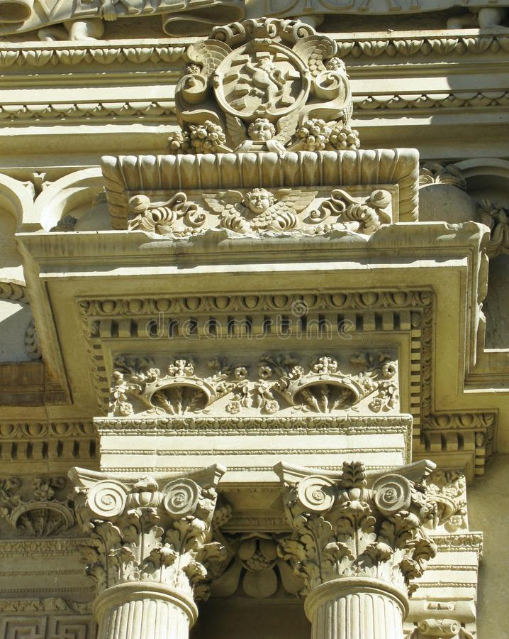 Basílica Santa Croce em Lecce em Italia foto de stock royalty free